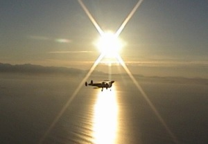 Flying High Over Straits of Juan de Fuca