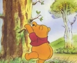 pooh bear climbing honey tree