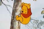 Pooh bear tumbling down the tree