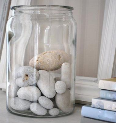glass jar stone door stopper